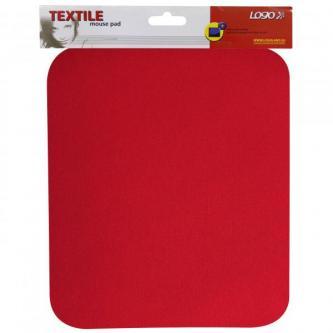 Podložka pod myš, měkká, červená, 24x22x0,3 cm, Logo