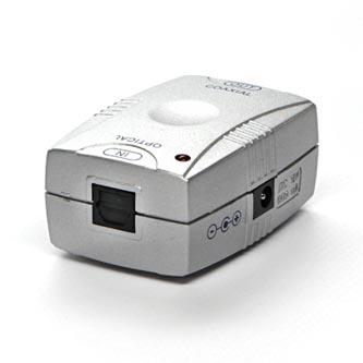 Konvertor pro převod audio signálu, z digitálního na analogový, Toslink F-Cinch F