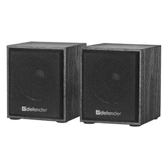 Defender reproduktory SPK 230, 2.0, 2x2W, černé, regulace hlasitosti, dřevěné, 100Hz~18kHz