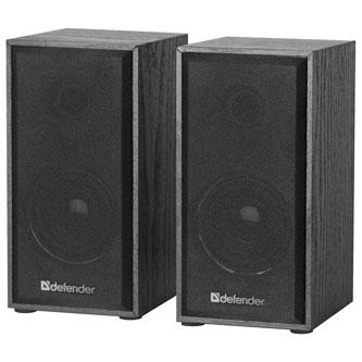 Defender reproduktory SPK 240, 2.0, 2x3W, černé, regulace hlasitosti, dřevěné, 100Hz~18kHz