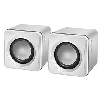 Defender reproduktory SPK-33, 2.0, 5W, bílé, kompaktní velikost, 100Hz~20kHz