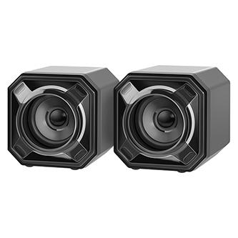 Defender reproduktory SPK-540, 2.0, 7W, černé, regulace hlasitosti, pasivní zářiče na zadní straně reproduktorů, 80Hz~20kHz