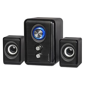 Defender reproduktory V11, 2.1, 11W, černé, regulace hlasitosti, tlačítko napájení, nastavení basů a výšek, 40Hz~18kHz