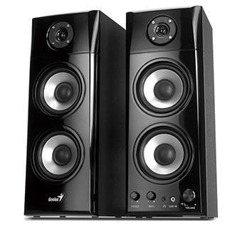 Genius reproduktory SP-HF1800A, 2.0, 50W, černé, regulace hlasitosti, dřevěné