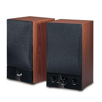 Genius reproduktory SP-HF1250B, 2.0, 40W, hnědé, regulace hlasitosti, dřevěné, 70Hz-20kHz