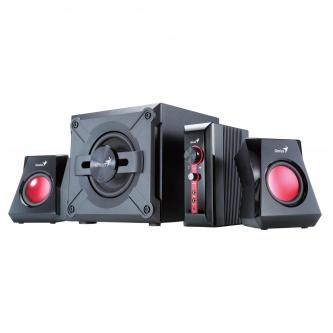 Genius reproduktory SW-G2.1 1250, 2.1, 36W, regulace hlasitosti, černé, herní, 3.5mm konektor