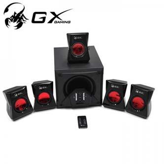 Genius GX Gaming SW-G5.1 3500 reproduktor herní, 5.1, 80W, červeno-černá, dálkové ovládání