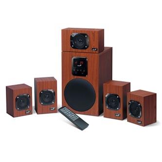 Genius reproduktory SW-HF 5.1 4800, 5.1, 125W, regulace hlasitosti, hnědo-černé, regálové, 3.5mm konektor40Hz-20kHz