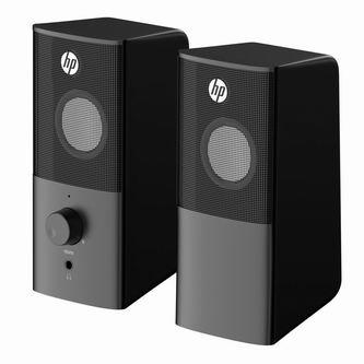 HP reproduktory DHS-2101, 2.0, 6W, černý, regulace hlasitosti, stolní, 3,5 mm jack (USB)