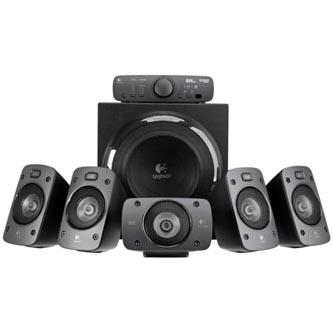 Logitech Z906-Digital, 5.1, 500W, dálkové ovládání, černé, výborné basy, 3.5mm Jack, RCA-Cinch konektor