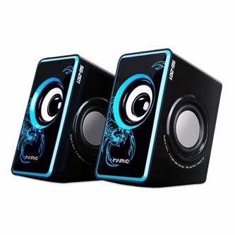 Marvo reproduktory SG-201, 2.0, 6W, modré, regulace hlasitosti, herní, 200Hz-20kHz