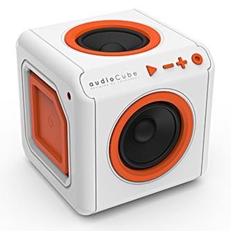 POWERCUBE reproduktor AudioCube, interní, 1.0, 20W, bílo-oranžový, regulace hlasitosti