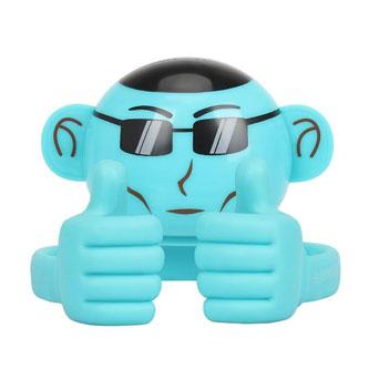 Promate Bluetooth reproduktor Ape, Li-Ion, 1.0, 3W, modrý, ,pro děti, držák telefonu