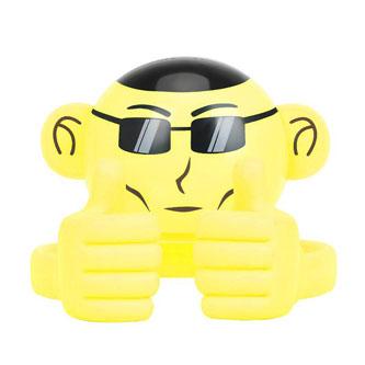 Promate Bluetooth reproduktor Ape, Li-Ion, 1.0, 3W, žlutý, ,pro děti, držák telefonu
