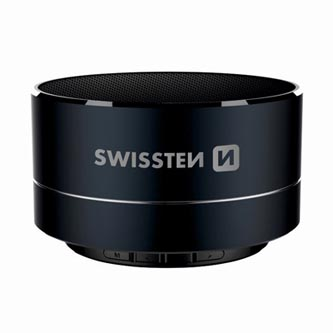 SWISSTEN bluetooth reproduktor, i-METAL, 3W, regulace hlasitosti, černý, bluetooth+USB, konektorkovový