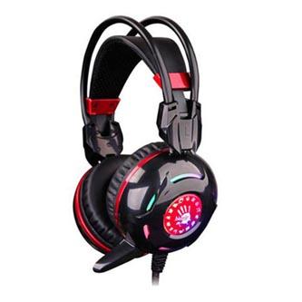 A4Tech G300, sluchátka s mikrofonem, černá, 2x 3.5 mm jack + USB