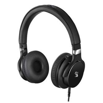 A4tech Bloody M510, sluchátka s mikrofonem, bez ovládání hlasitosti, černá, herní sluchátka, 3.5 mm jack + rozdvojka
