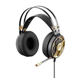 A4tech Bloody M660, sluchátka s mikrofonem, ovládání hlasitosti, zlatá, herní sluchátka, 3.5 mm jack + rozdvojka