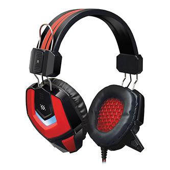 Defender Ridley, herní sluchátka s mikrofonem, ovládání hlasitosti, černo-červená, 2.0, 50 mm měniče typ 2x 3.5 mm jack + USB
