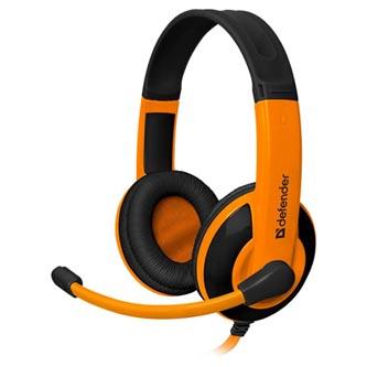 Defender Warhead G-120, herní sluchátka s mikrofonem, ovládání hlasitosti, černo-oranžová, 2x 3.5 mm jack