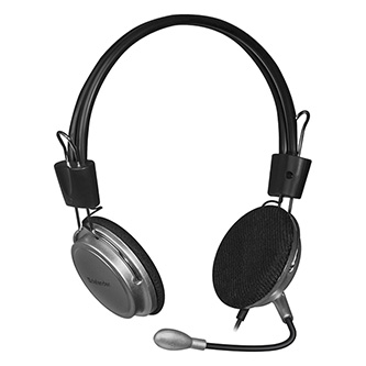 Defender Aura 120, sluchátka s mikrofonem, ovládání hlasitosti, černo-šedá, 2.0, 2x 3.5 mm jack
