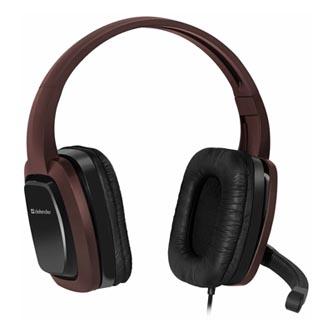 Defender Warhead G-250, sluchátka s mikrofonem, ovládání hlasitosti, černo-hnědá, herní sluchátka, 2x 3.5 mm jack