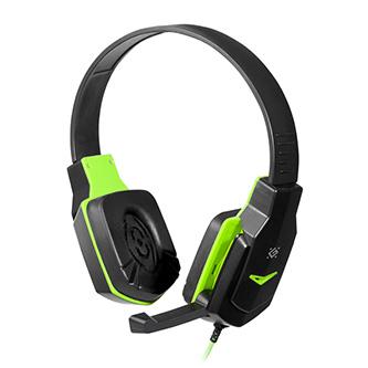 Defender Warhead G-320, herní sluchátka s mikrofonem, ovládání hlasitosti, černo-zelená, 2.0, 2x 3.5 mm jack