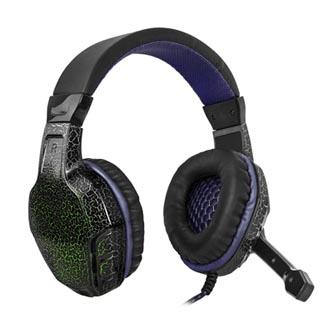 Defender Warhead G-400, sluchátka s mikrofonem, ovládání hlasitosti, černo-fialová, herní sluchátka, 2x USB