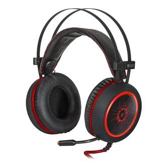 Defender DeadFire G-530D, sluchátka s mikrofonem, ovládání hlasitosti, černo-červená, uzavřená, 2x 3.5 mm jack + USB