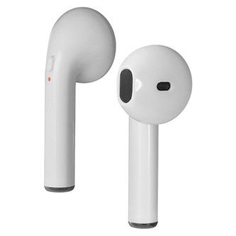 Defender Twins 637, sluchátka s mikrofonem, bez ovládání hlasitosti, bílá, špuntová, BT 5.0, TWS, nabíjecí pouzdro typ bluetooth