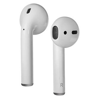 Defender Twins 631, sluchátka s mikrofonem, bez ovládání hlasitosti, bílá, špuntová, BT 5.0, TWS, nabíjecí pouzdro, bezdrátové nab