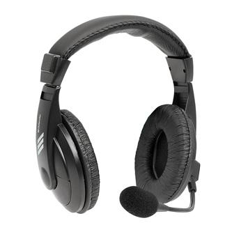 Defender Gryphon 750U, sluchátka s mikrofonem, ovládání hlasitosti, černá, uzavřená, USB