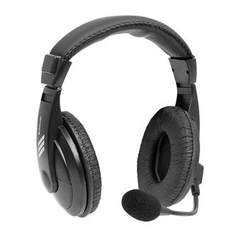 Defender Gryphon 750U, sluchátka s mikrofonem, ovládání hlasitosti, černá, uzavřená, poškozený obal typ B, USB