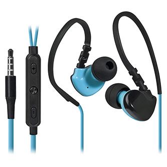 Defender OutFit W770, sluchátka s mikrofonem, ovládání hlasitosti, černo-modrá, 2.0, špuntová, sportovní typ 3.5 mm jack