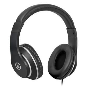 Defender Accord 185, sluchátka s mikrofonem, bez ovládání hlasitosti, černá, uzavřená, 2x 3.5 mm jack