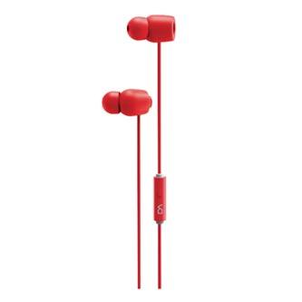 DA Marvo DM0011RD, sluchátka s mikrofonem, bez ovládání hlasitosti, červená, špuntová, 3.5 mm jack