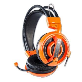 E-Blue Cobra I, herní sluchátka s mikrofonem, oranžová, 2x 3.5 mm jack