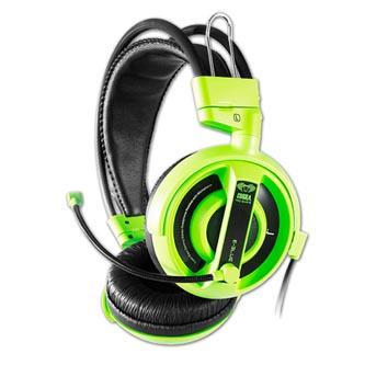E-Blue Cobra I, herní sluchátka s mikrofonem, zelená, 2x 3.5 mm jack
