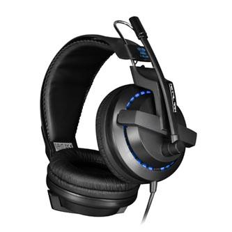 E-Blue Cobra X 951, herní sluchátka s mikrofonem, černá, 2x 3.5 mm jack + USB