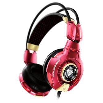 E-Blue, IRON MAN EHS903, herní sluchátka s mikrofonem, červená, 3.5 mm jack + USB
