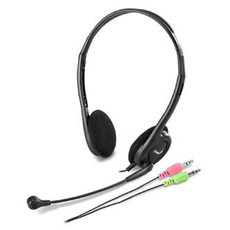 Genius HS-200C, sluchátka s mikrofonem, černá, 2x 3.5 mm jack