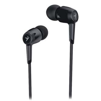 Genius HS-M225, sluchátka s mikrofonem, bez ovládání hlasitosti, černá, 3.5 mm jack špuntová