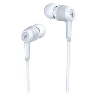 Genius HS-M225, sluchátka s mikrofonem, bez ovládání hlasitosti, bílá, 3.5 mm jack špuntová