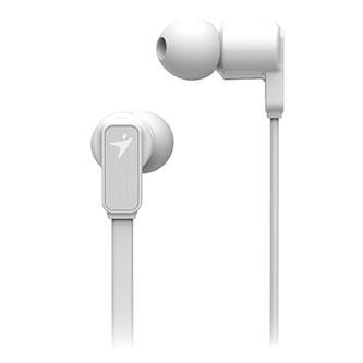 Genius HS-M260, sluchátka s mikrofonem, bez ovládání hlasitosti, bílá, sportovní, 3.5 mm jack špuntová