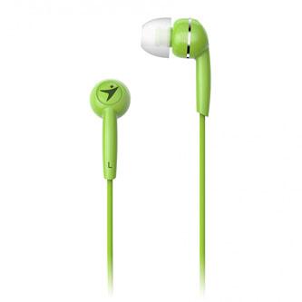 Genius HS-M320, sluchátka, bez ovládání hlasitosti, zelené, špuntová typ 3.5 mm jack