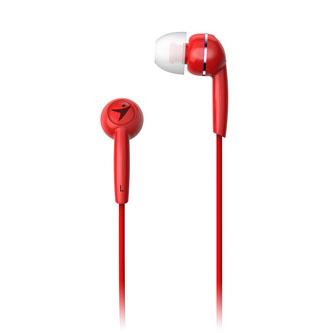 Genius HS-M320, sluchátka, bez ovládání hlasitosti, červené, špuntová typ 3.5 mm jack