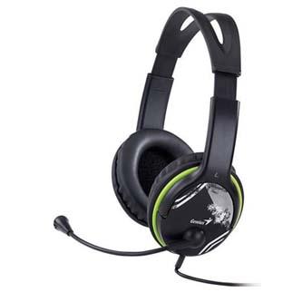 Genius HS-400A, sluchátka s mikrofonem, ovládání hlasitosti, černá, 2x 3.5 mm jack
