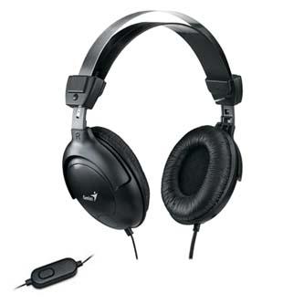 Genius HS-M505X, sluchátka s mikrofonem, černá, 3.5 mm jack