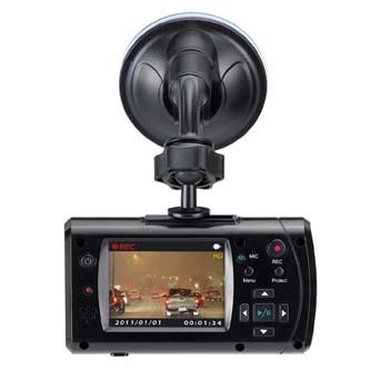 Genius Digitální kamera do auta DVR-HD550, HD, autozapalovač, černá
