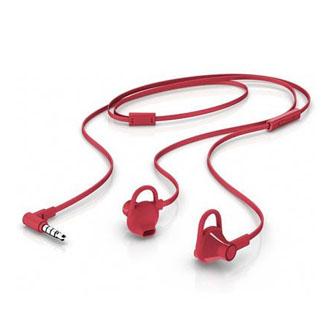 HP 150, sluchátka s mikrofonem, bez ovládání hlasitosti, červená, 3.5 mm jack špuntová